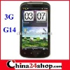 4.3 inch Capacitive multi-touch screen 3G WCDMA Android 2.3 OS smart phone G14 with WIFI GPS TV JAVA function