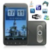 4.3 inch big touch screen unlocked GSM quad band mobile phone,supporting tv wifi and java