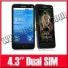 4.3Inch Unlocked Dual SIM Android 2.2 Cellphone JAVA WIFI GPS Mobie Phone