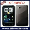 4.3inch capacitance Android 2.3 dual sim cell phone GPS w880