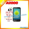 4.3inch capacitive dual sim Android mobile phone A2000