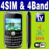 4 SIM & Four standby 4 SIM & Four standby Wifi Java TV mobile phone Unlocked