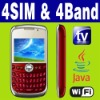 4 SIM & Four standby Wifi Java TV Unlocked smart phone