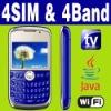 4 SIM & Four standby Wifi Java TV Unlocked smart phone