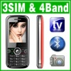 4 band Triple Sim Triple Standby 3 Sim TV Unlock mobile phone