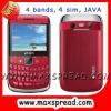 4 sim tv cellphone with pinhole camera MAX-8980
