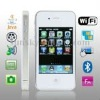 4S White, Wifi JAVA Bluetooth FM Function 3.5 inch Touch Screen Mobile Phone, Slip-operation can change the menu, Dual Sim cards