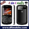 4sim 4standby  analog TV mobile phone 9900
