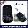 4sim tv mobile phone t010 MTK6253 built in 128+64MB