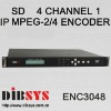 4to1 supper MPEG2 ip video Encoder