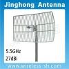 5.5GHz 27dBi Grid parabolic antenna (JHG-5500-27)