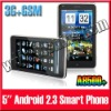 5 inch GPS WiFi Unlocked GSM+3G Android 2.3 A8500+ Smart Phone