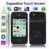 5GS+ Black, 3.5 inch Capacitive Touch Screen, Analog TV (PAL/NTSC), Wifi JAVA Bluetooth FM Function Mobile Phone, Slip-operation