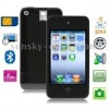 5S Black, JAVA Bluetooth FM Function 3.5 inch Touch Screen Ultra-thin Mobile Phone with 4GB Memory, Built in Li-ion Battery, Sli