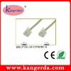 6P4C MALE TO 6P4C MALE 30AWG BEIGE COLOR TELEPHONE CABLE