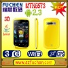 """A101 MT6573 android mobile phone with Android 2.3 OS, 3.5"""" HVGA Caps. touch screen, SPB 3D shell, WiFi,GPS/AGPS,P-sensor."""