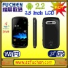 """A103 touch screen phone, Android 2.2 gsm phone with 3.5"""" HVGA sensitive touch screen,support WiFi, WAP,JAVA,GPRS."""