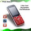 A280 3 sim card,big speaker cell phone mobile phone