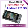 "A5000 Android 2.2 3.5""GPS WiFi TV Phone"