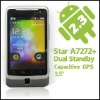 "A7272+ - MT6513 Smartphone Android 2.3 (Gingerbread) GPS 3.5"" Pantalla Capacitiva Doble SIM GPS Wifi"