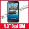 Android 2.2 4.3Inch Big Screen GPS Smart Mobile Dual SIM Phone