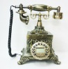 Antique phone,classical wooden telephone