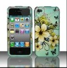 BLUE NATURAL FLOWER Protector Hard Snap On Cover Case for APPLE PHONE 4 4S