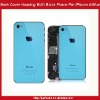 Back Cover Housing Assembly With Black Frame For iPhone 4-Blue