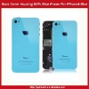 Back Cover Housing With Blue Frame For iPhone 4 -Blue