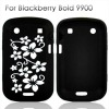 Black Skin Silicone Case For Blackberry Bold 9900