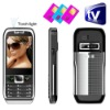 Black Three Sim Standby TV bluetooth Torch light Cell Phone mini E371