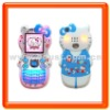 Boust Cartoon cell Phone with Dual Band Hello Kitty Mobile Phone Cell Phone Cellular Phone Cellphone (BST-PV88)