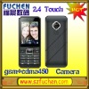"C18 Latest touch screen cdma gsm cellphone with 2.4"" touch screen, camera, MP3/MP4,FM radio,support WAP,FM radio."