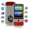 C5 TV Red, Russian Keyboard, Big Speaker, Analog TV (PAL/NTSC/SECAM), Dual sim cards Dual standby, Bluetooth FM function Touch S