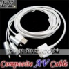 COMPOSITE AV USB CABLE FOR IPOD APPLE IPHONE TOUCH IPAD IP-666