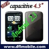 "Capacitive screens phone 4.3"" Android 2.3 W880 mobile phone"