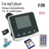 Car MP3 Player FM Transmitter with 206 Channels