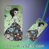 Case for iPhone 4, with Water Paster and Rubber Base Paint Craft, Made of ABS