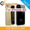 Cell Phone Repair Parts - Mirror-like Metal Back Cover for iPhone 4S