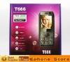 Cheap mobile phone T666 2.2 inch Bluetooth FM radio Dual sim mobile phone free shipping