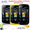 Cheapest MTK6573 capacitive screen android 2.3 smart phone A101