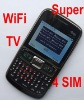 China  four sim four standby Mobile phone G870 TV GSM unlocked