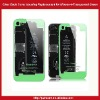Clear Glass Back Cover Housing Replacement for iPhone 4-Transparent Green