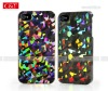 Colorful Peace Bling Diamond Hard Cover Case For Apple iPhone 4S 4G