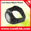 Cool black steel watch phone