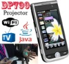 DP790 cell phone Projector TV WiFi Java CECT Black