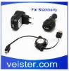 Data Sync Cable Home Wall Car Cord for Blackberry Torch