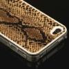 Designer Gold Snake Leather Case Hard Back Skin Cover For Apple Phone 4 4G New