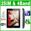 Dual SIM Dual Standby 2 camera Java Wifi TV phone