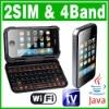 Dual SIM Dual Standby 2 camera Java Wifi TV phone